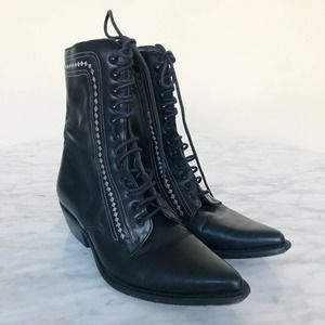 Guess by George Marciano Vintage Lace Up Boots 6.5